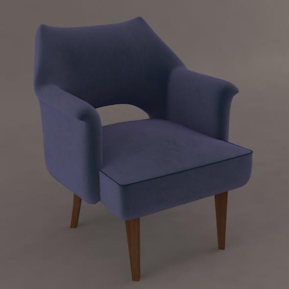 Cheir Velvet and Wood - 3DOcean Item for Sale