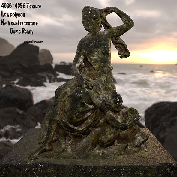 old statue - 3DOcean Item for Sale