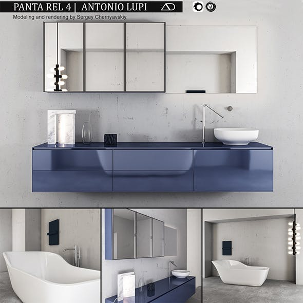 Bathroom furniture set Panta Rel 4
