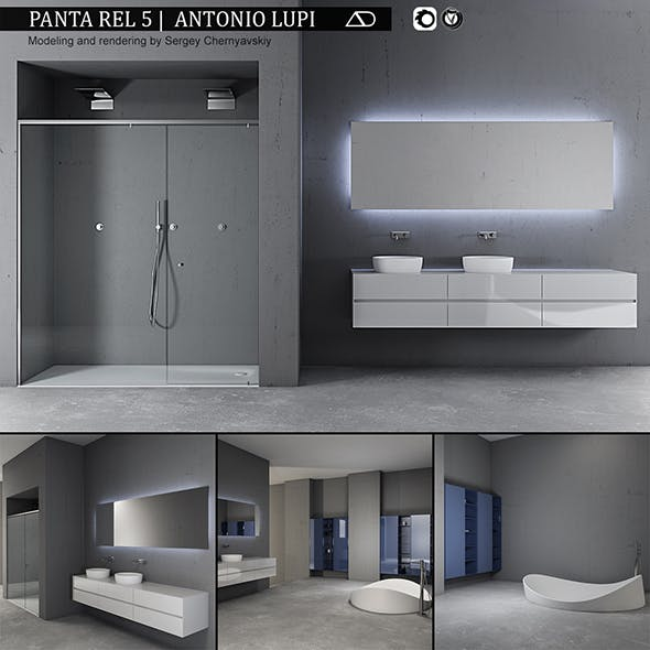 Bathroom furniture set Panta Rel 5