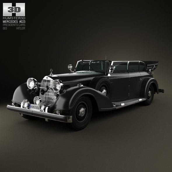 Mercedes-Benz 770K 1936 Hitler - 3DOcean Item for Sale