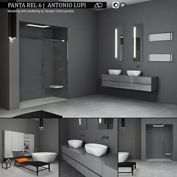 Bathroom furniture set Panta Rel 6 - 3DOcean Item for Sale
