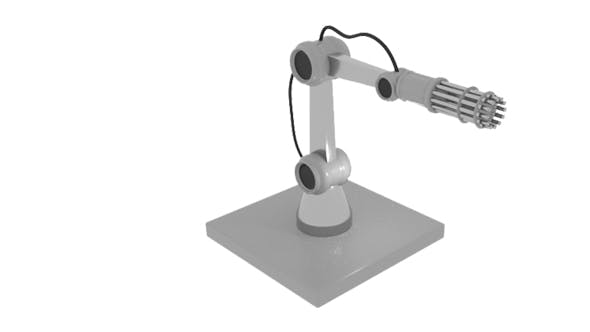 Gun Robot Arm - 3DOcean Item for Sale