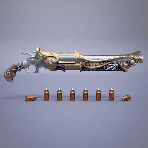 Fantasy rifle - 3DOcean Item for Sale