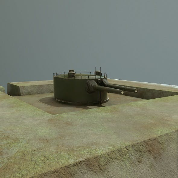 Coastal artillery 305 mm - 3DOcean Item for Sale