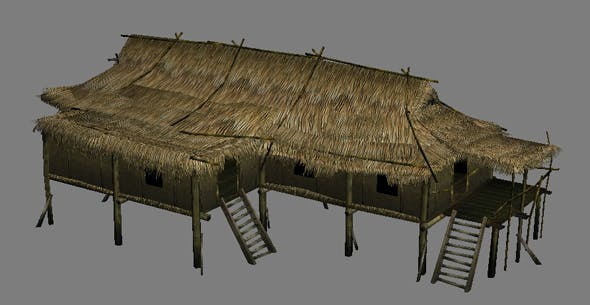 vietnam hut - 3DOcean Item for Sale