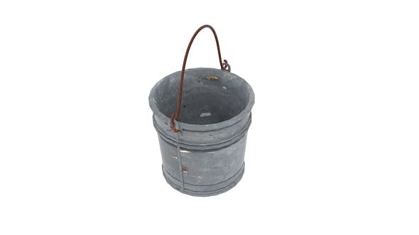 Old Water Bucket - 3DOcean Item for Sale