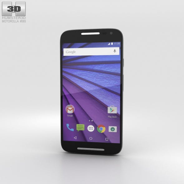 Motorola Moto G (3rd Gen) Black - 3DOcean Item for Sale