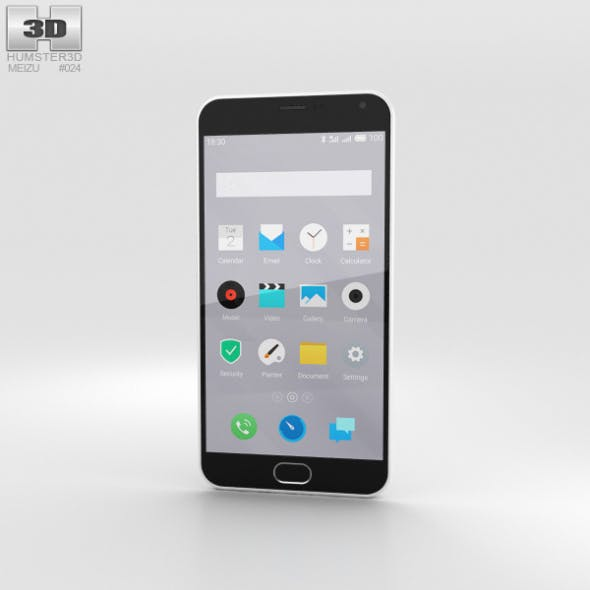 Meizu M2 Note White - 3DOcean Item for Sale