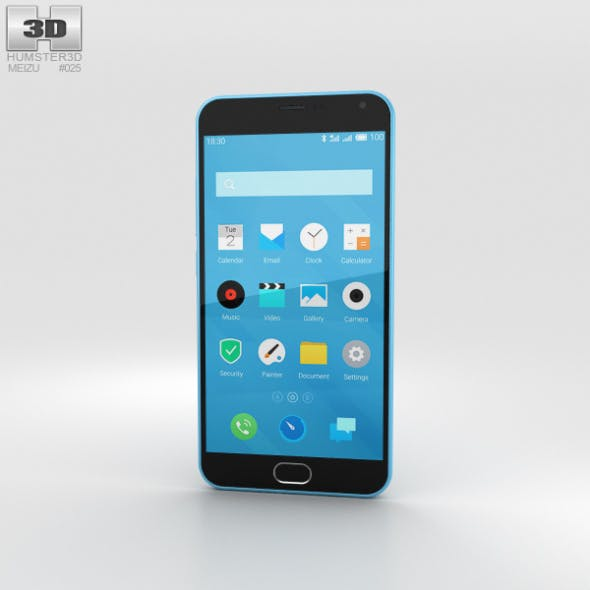 Meizu M2 Note Blue - 3DOcean Item for Sale