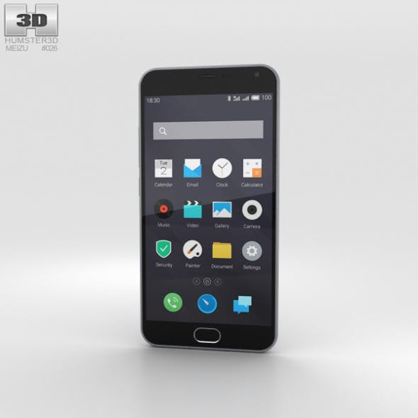 Meizu M2 Note Gray - 3DOcean Item for Sale