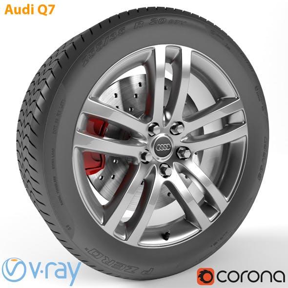 Audi Q7 Wheel - 3DOcean Item for Sale