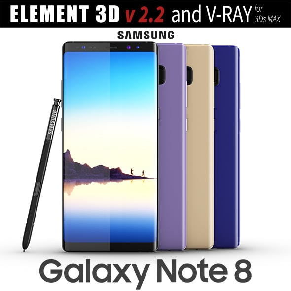 Samsung Galaxy Note 8 All colors - 3DOcean Item for Sale