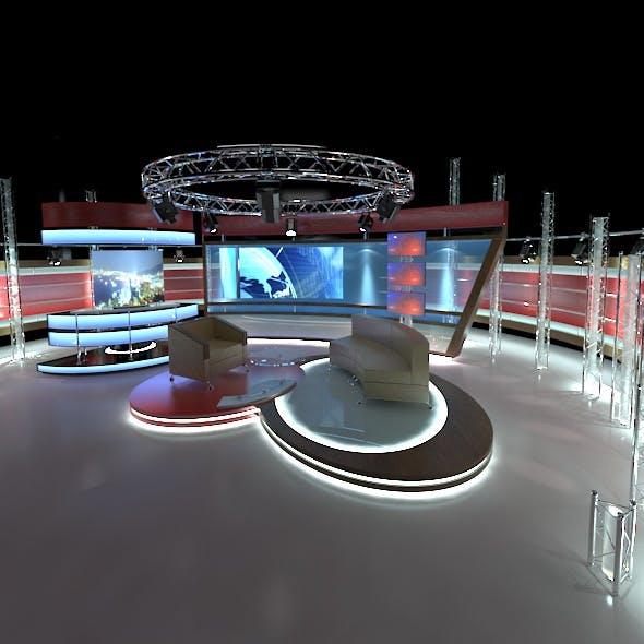 Virtual TV Studio Chat Set 1 - 3DOcean Item for Sale