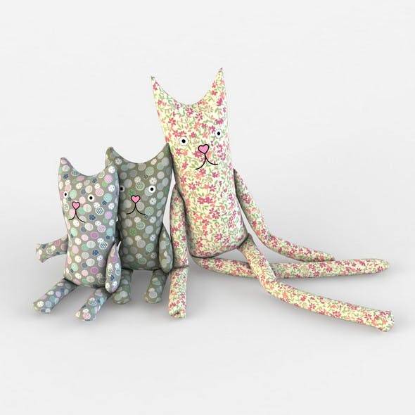 Cat textile toys kids baby room