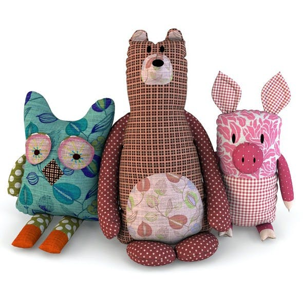 Toys bear pig owl baby - 3DOcean Item for Sale