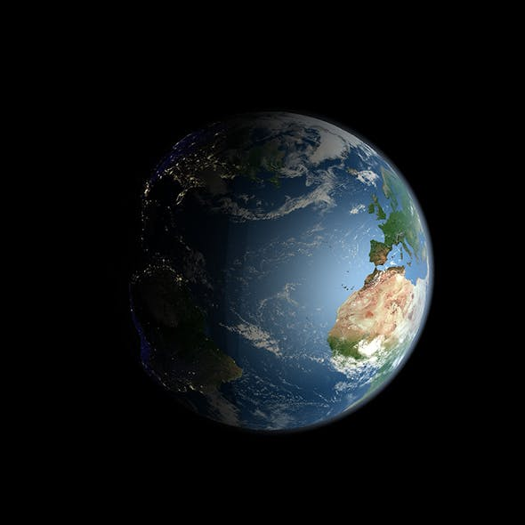 Earth with Orbit - 3DOcean Item for Sale