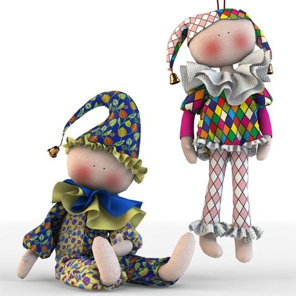 Toys Tilda Harlequin baby - 3DOcean Item for Sale