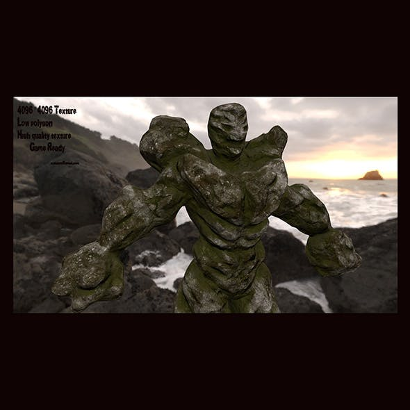 rock monster - 3DOcean Item for Sale