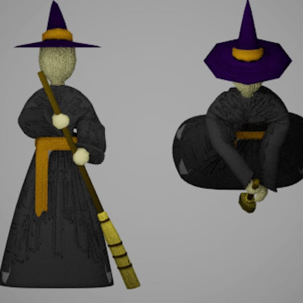 Animated Witch Doll