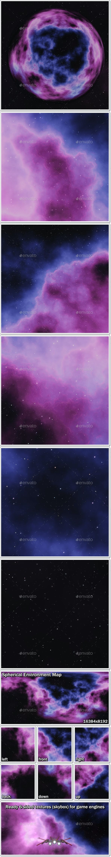 Nebula Space Environment HDRI Map 006 - 3DOcean Item for Sale