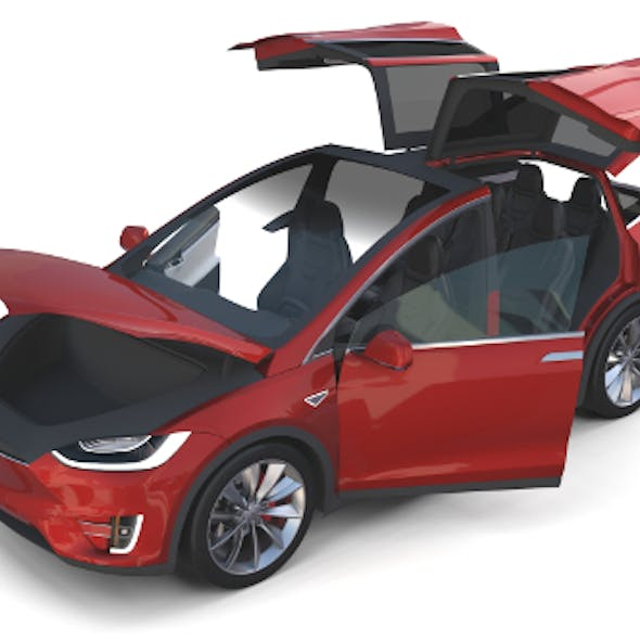 Tesla Model X Red with interior