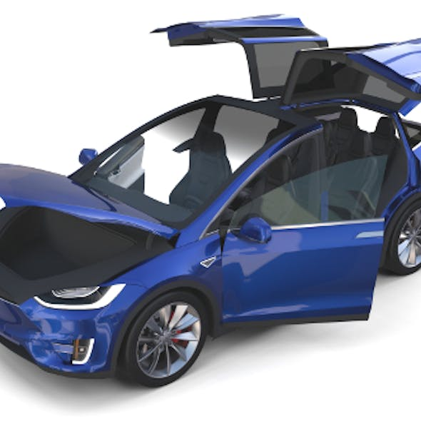 Tesla Model X Blue with interior