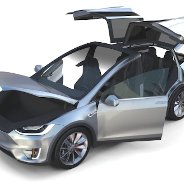 Tesla Model X Silver with interior