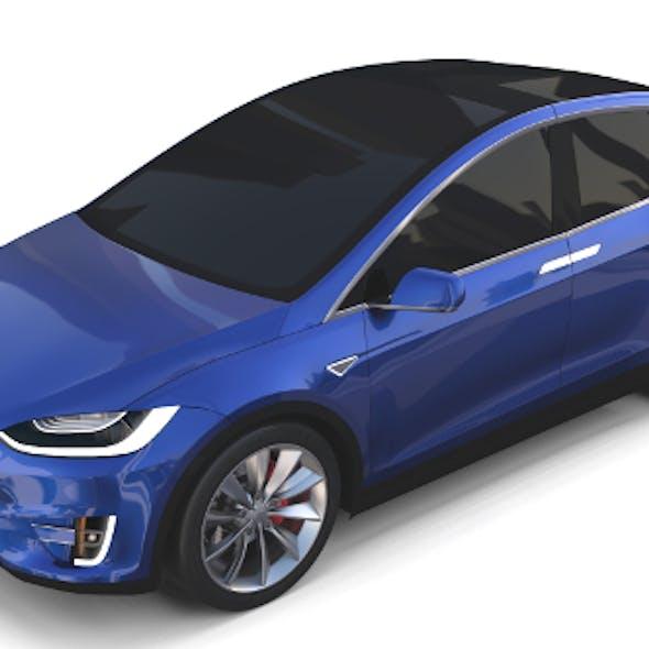 Tesla Model X Blue