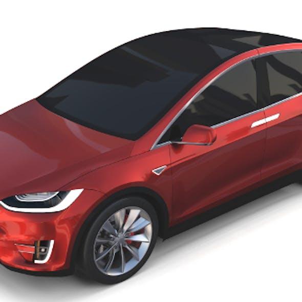 Tesla Model X Red