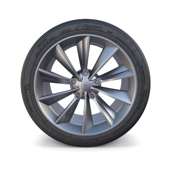 Tesla Model X Wheel - 3DOcean Item for Sale