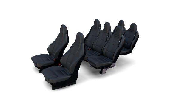 Tesla Model X Seats - 3DOcean Item for Sale
