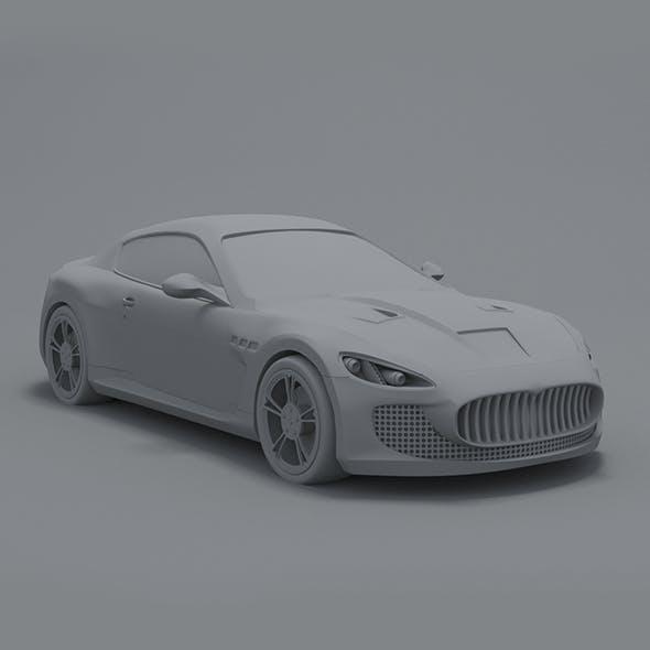 maserati ganturismo - 3DOcean Item for Sale