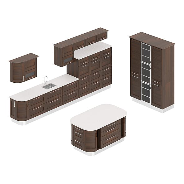 Kitchen Furniture Set 1 - 3DOcean Item for Sale