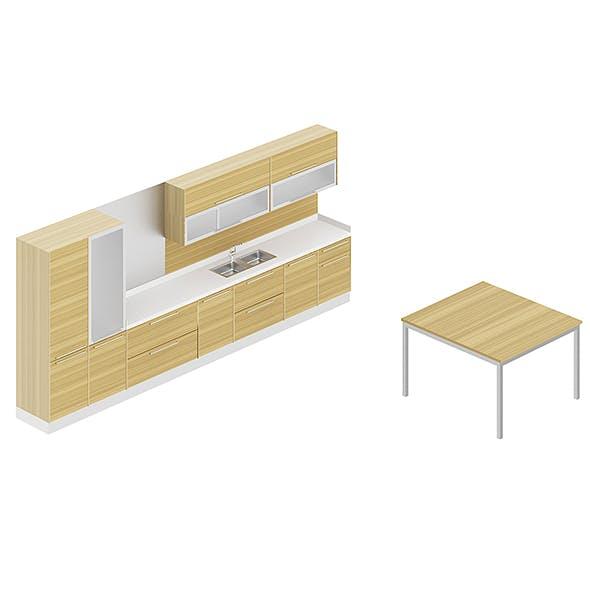 Kitchen Furniture Set 4 - 3DOcean Item for Sale