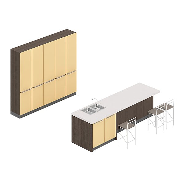 Kitchen Furniture Set 5 - 3DOcean Item for Sale