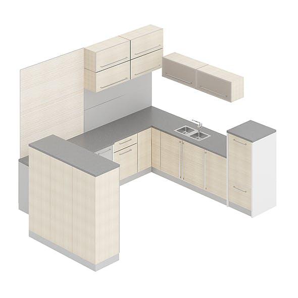 Kitchen Furniture Set 6 - 3DOcean Item for Sale