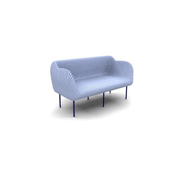 Striped 3d Couch