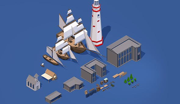 Low Poly Pack object - 3DOcean Item for Sale