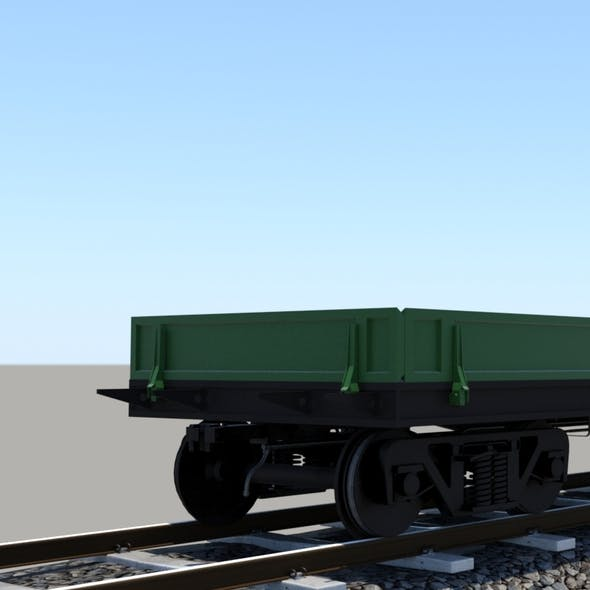 wagon mid-poly - 3DOcean Item for Sale