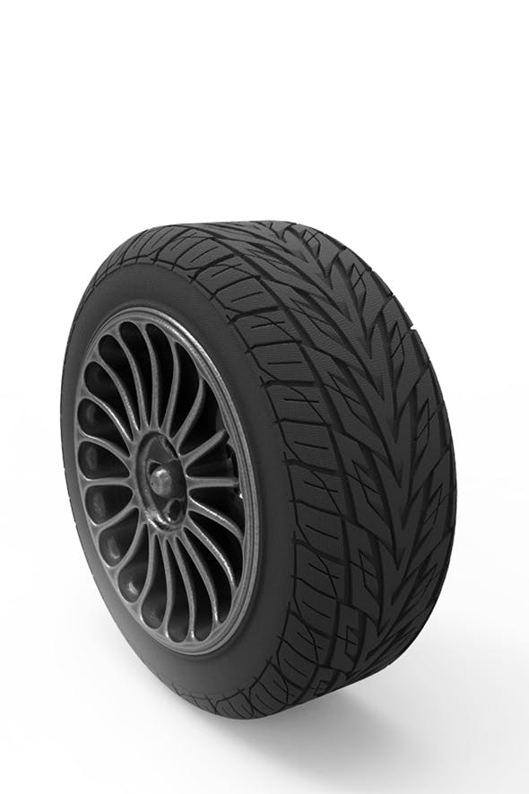 Tire on a disk - 3DOcean Item for Sale