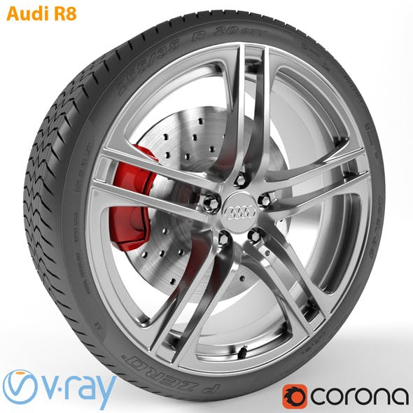 Audi R8 Wheel - 3DOcean Item for Sale