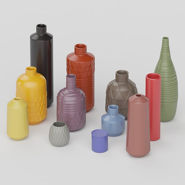 Ceramic Vase Collection - 3DOcean Item for Sale