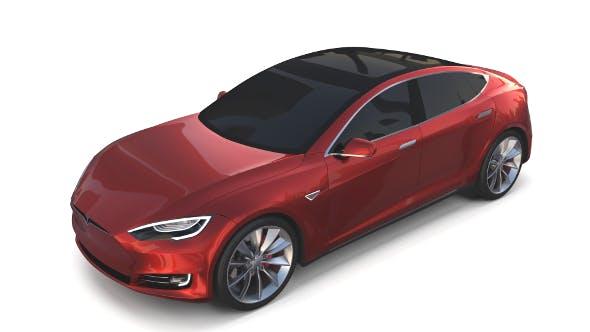 Tesla Model S 2016 Red - 3DOcean Item for Sale