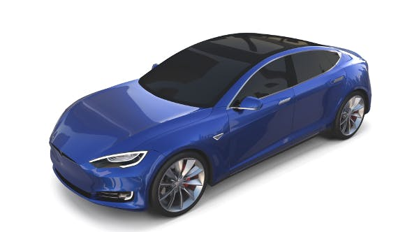 Tesla Model S 2016 Blue - 3DOcean Item for Sale