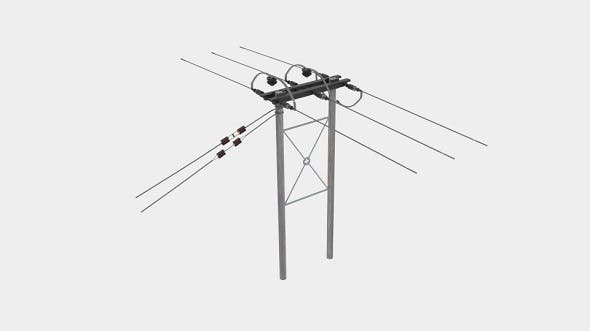 Wooden Telegraph Pole Farmers Field - 3DOcean Item for Sale
