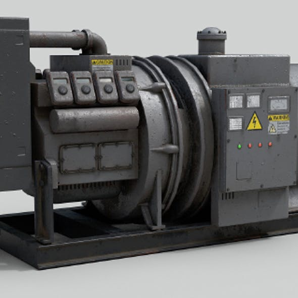Low Poly Industrial Generator