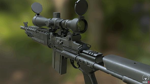 rifle MK14 Ebr - 3DOcean Item for Sale