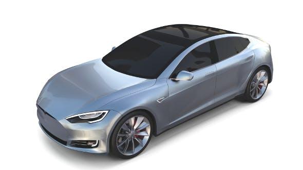 Tesla Model S 2016 Silver - 3DOcean Item for Sale