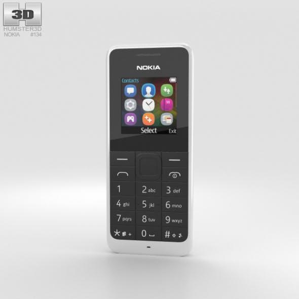 Nokia 105 Dual SIM White - 3DOcean Item for Sale